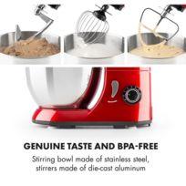 Bella Pico Mini robot de cuisine 4 litres 800W 6 vitesses - rouge