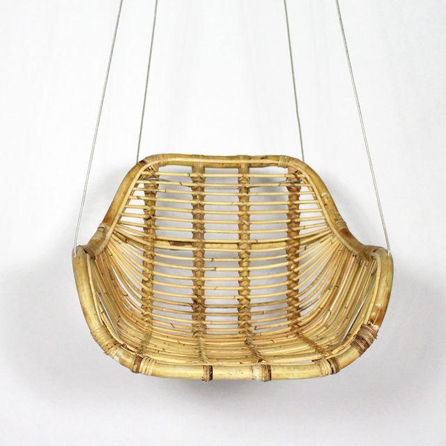 Made In Meubles - Fauteuil rotin suspendu avec câble | Vdl-12 Bois
