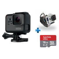 GOPRO - HERO 5 BLACK EDITION + Carte micro SD Ultra 16 Go100MB/s C10 UHS U1 A1 Card+Adaptateur + Fixation bracelet ''Wrist Housing'' pour Hero 3