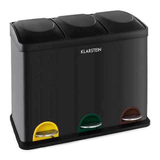 KLARSTEIN - Klarstein Ecosystème Poubelle à pédale pour tri sélectif    recyclage 45 L (3x15 06a72cd23cd4