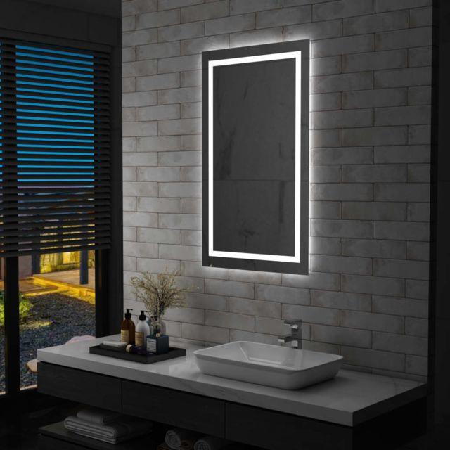 Vidaxl Miroir à Led pour salle de bains et capteur tactile 60x100 cm