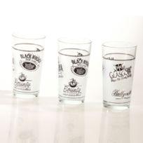 B&W Cuisine - 3 verres à whisky - 25cL - Verre