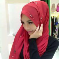 Wewoo - Strass en Mousseline de Soie Perle Caché Boucle Foulard Femme  Nationalité Style Foulard Hijab 5af95fc177d