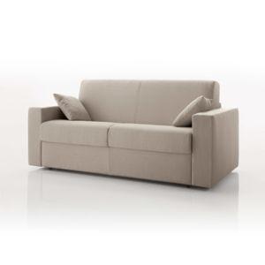 canap convertible 2 places tissu d houssable ivoire achat vente canap s pas chers. Black Bedroom Furniture Sets. Home Design Ideas