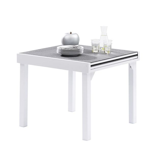 Wilsa Table Modulo Stone Blanc T4/8 Tables & Ensembles Modulo Stone