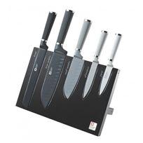 Richardson - Bloc magnétique noir/inox 5 couteaux Seasons