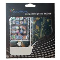 Colorfone - Sticker Pop art fleurs iPhone 4 / 4S