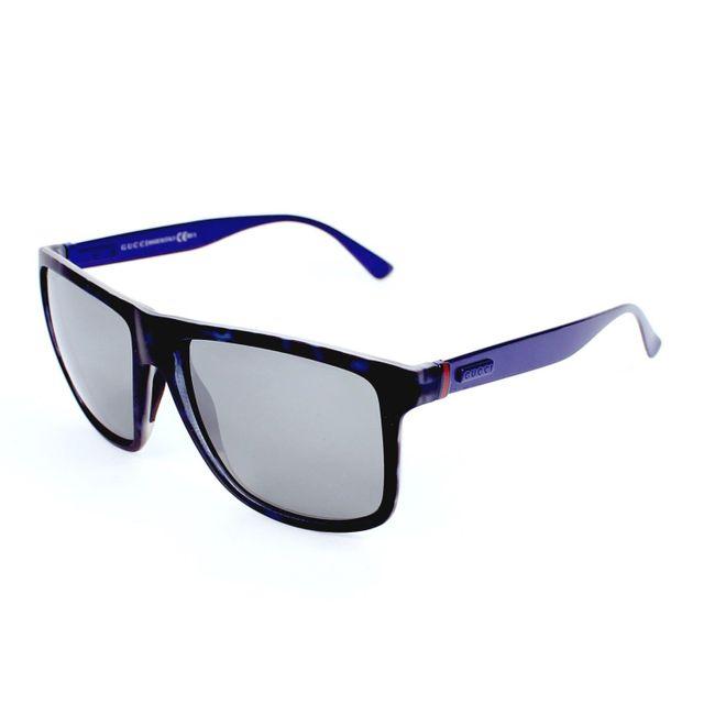 bae68a5db2ea9c Gucci - Gg 1075 S H6ISF Bleu havane - Bleu - Lunettes de soleil - pas cher  Achat   Vente Lunettes Tendance - RueDuCommerce
