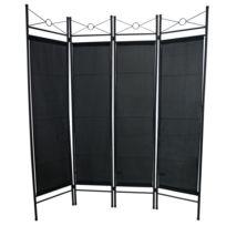 Séparateur de Pièces, 180 x 160 cm, Noir