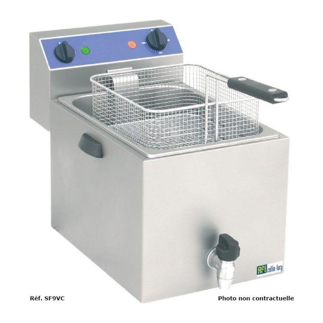 Materiel Chr Pro Friteuse de Table Série Standard avec Vidange Spéciale Surgelée - 8 L - Afi Collin Lucy