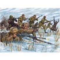 Italeri - Figurines 2ème Guerre Mondiale : Infanterie Russe tenue hivernale