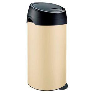 meliconi poubelle soft touch 60 l cr me pas cher achat vente poubelle de cuisine. Black Bedroom Furniture Sets. Home Design Ideas