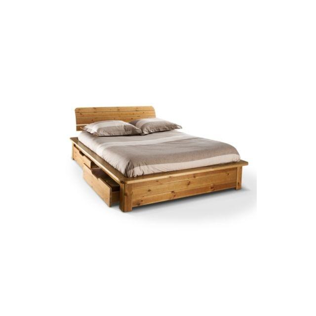 camif lit complet tania 160 x 200 cm pas cher achat vente structures de lit rueducommerce. Black Bedroom Furniture Sets. Home Design Ideas