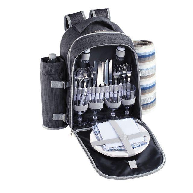 7acc9a8ac5 Be Nomad - Sac à dos pique-nique 4 personnes 30 accessoires inclus - Sep118