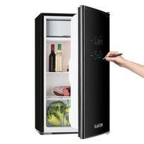 KLARSTEIN - Réfrigérateur 90L A+ 2 étagères bac à glace grattoir marqueur - noir