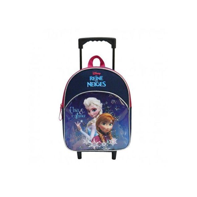 b1cff6e33f0951 Frozen - sac à dos à roulettes trolley scolaire école enfant fille cartable  Reine des neiges Disney - pas cher Achat   Vente Sacs à dos - RueDuCommerce