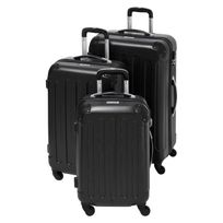 Gentleman Farmer - Set de 3 Valises Rigide Abs 4 Roues 48-60-70cm Gfv208 Noir