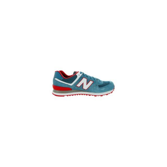 505e7728eb1 New Balance - Chaussures Ml 574 bleu cambrai rouge blanc - pas cher Achat    Vente Baskets homme - RueDuCommerce