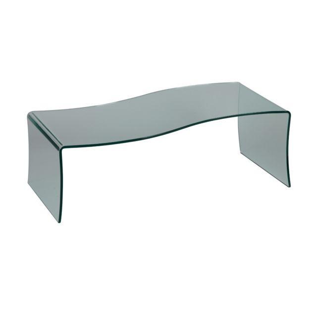 Tousmesmeubles Table basse forme S en verre - Bright