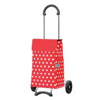 ANDERSEN - poussette de marché 2 roues 43l rouge & pois blancs - 11204070