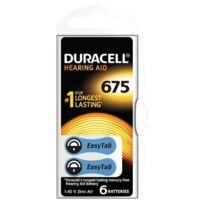 Duracell - Blister de 6 piles auditives easy tab 675