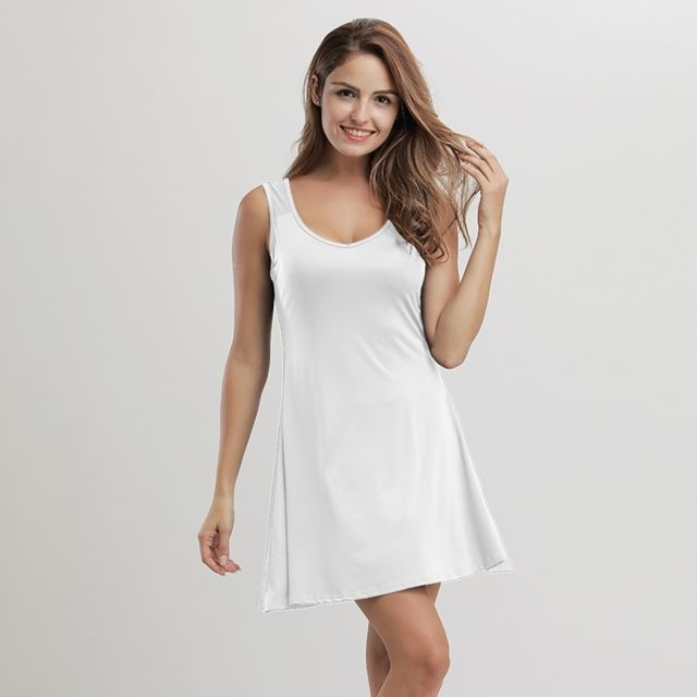ffa637d00ee Wewoo - Robe Femme blanc Femmes Mode Sexy Simple Style courte sans manches