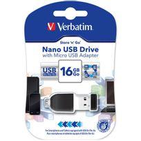 Verbatim - Nano Store N Stay 16GB Usb2.0