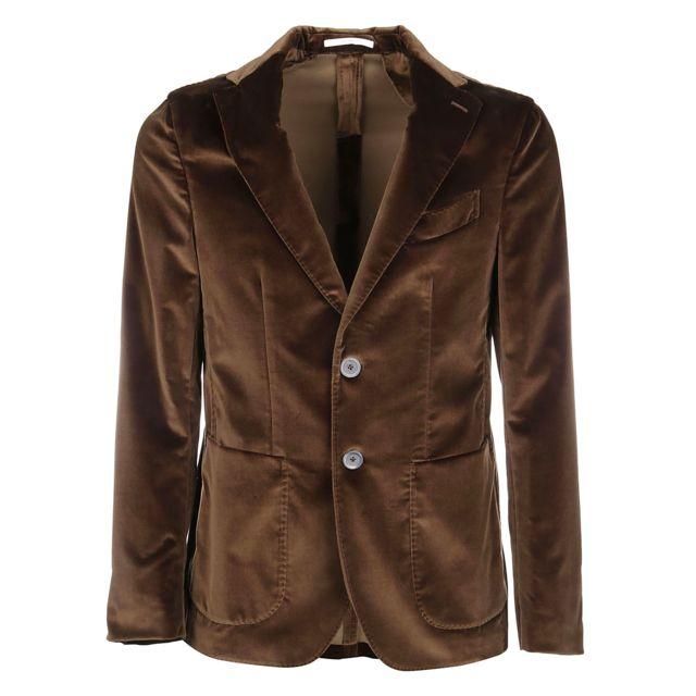 Pal Zileri Homme P3244232B205546 Marron Coton Blazer
