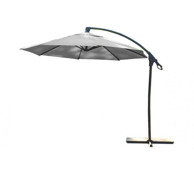 dcb garden parasol aluminium avec pied excentr gris pas cher achat vente parasols. Black Bedroom Furniture Sets. Home Design Ideas