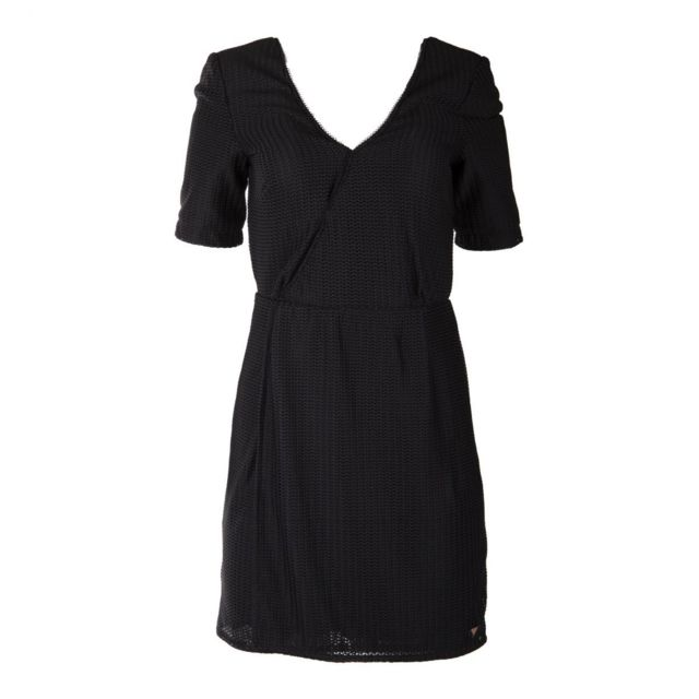 On You , Robe noire portefeuille femme XL , pas cher Achat / Vente Robes ,  RueDuCommerce