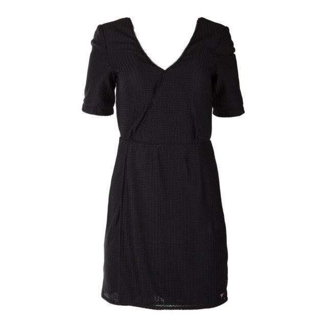 On You , Robe noire portefeuille femme XL , pas cher Achat / Vente Robes ,  RueDuCommerce