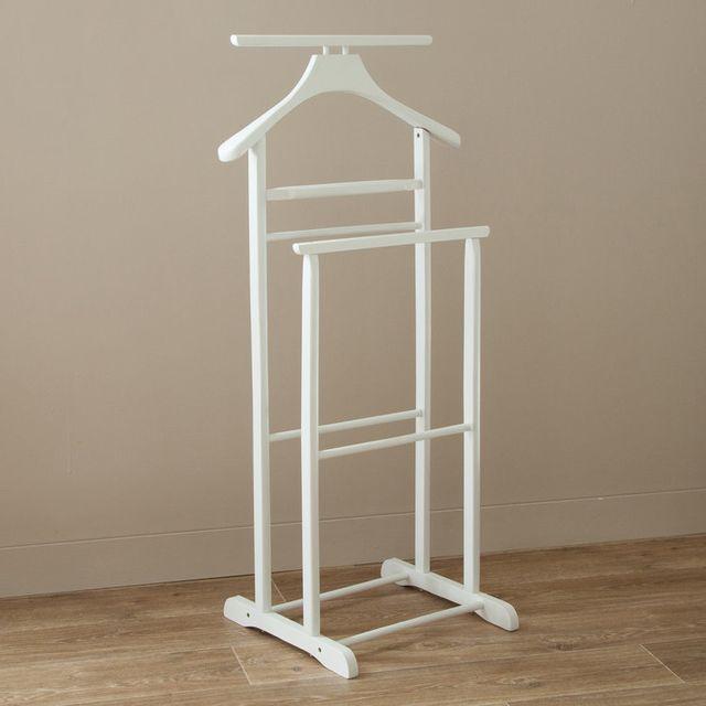 haku moebel valet de chambre double en bois blanc funny pas cher achat vente valet de. Black Bedroom Furniture Sets. Home Design Ideas