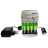 Hobbytech - Chargeur Ultra Rapide 2h30 + 4 accus Aa 2700 mAh