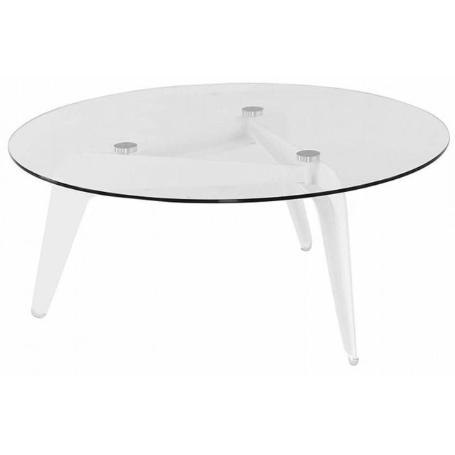NO NAME Table basse en verre Calder 96 cm