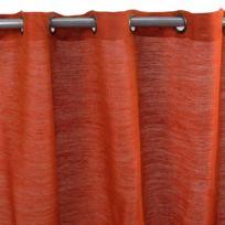 MonbeauRideau - Rideau Tribu 150x250cm, Orange • Jute/coton