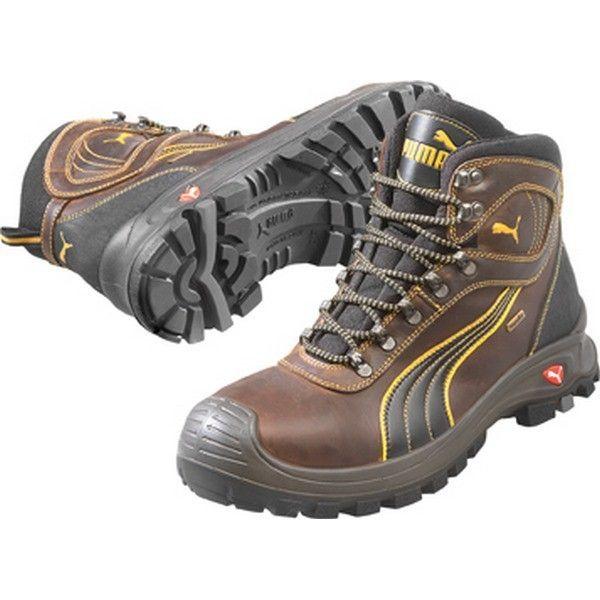 super populaire e36a8 63ec0 Chaussure de sécurité de chantier, S3 Hro, brune 630220, Taille : 46