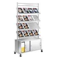 Kerkmann - Présentoir pour 16 paquets de brochures avec armoire à portes coulissantes