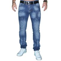 Dsquared2 - Jean - Homme - Ds 01 - Skinny Fit - Bleu Stone Taches Design