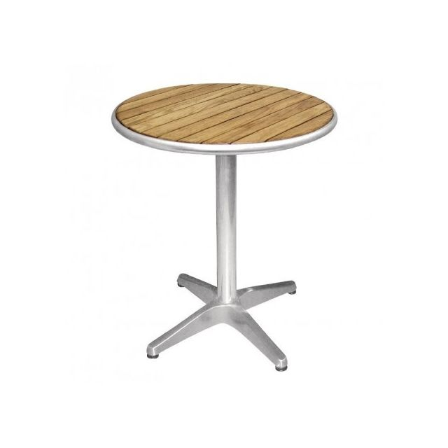 Materiel Chr Pro Table ronde en frêne 600 mm Bolero - Bois clair