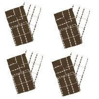 Ligne Decor - 2 Serviettes torchons essuis mains 50 x 70 cm eponge marron et blanc