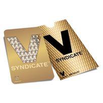 """V Syndicate Grinder Card - Carte grinder """"Gold V"""
