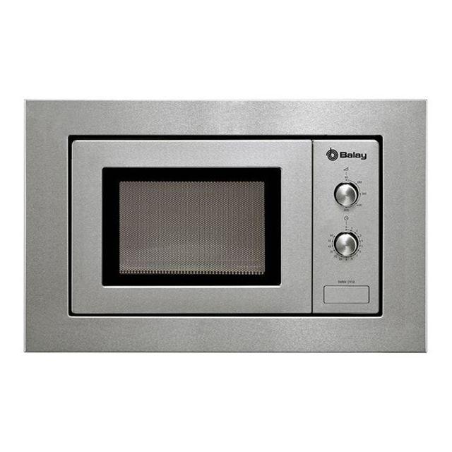 Totalcadeau Micro ondes encastrable gris 800 W 17 L - Micro ondes intégrable avec Plateau tournant cuisine