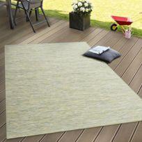 Paco-home - Intérieur & Extérieur Tissage À Plat Tapis Terrasses Tapis Avec Dégradé De Couleurs En Vert 60X100