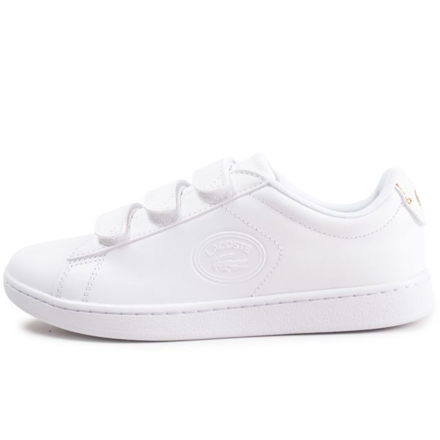5339221bc6f Lacoste - Carnaby Evo à Scratch Blanche Femme - pas cher Achat ...