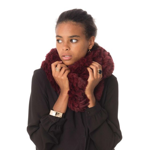Oakwood - Romy Porto 630 Bordeaux - pas cher Achat   Vente Echarpes,  foulards - RueDuCommerce 07754d65163