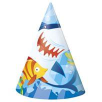 Unique Party - CHAPEAUX Shark Lot De 8