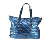 Modanana - Sac Matelassé en Tissu Bleu
