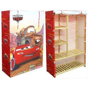 disney armoire tissu rouge 90x35x140cm cars pas cher. Black Bedroom Furniture Sets. Home Design Ideas