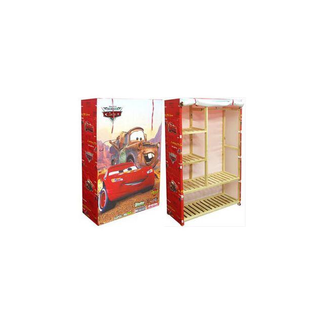 Disney - Armoire tissu rouge 90x35x140cm Cars - pas cher ...