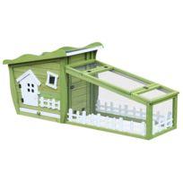 PAWHUT - Clapier cage à lapins style cabane et pré dim. 155L x 55l x 885a76d0d9d7
